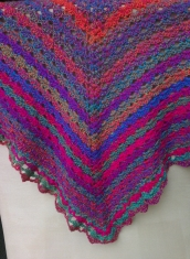 Shell and Lace Shawl
